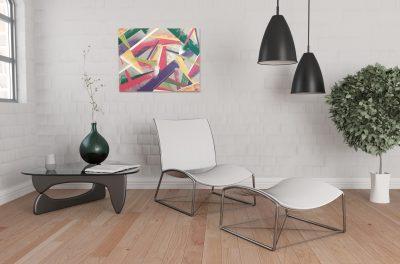 Tableau abstrait graffiti – Décoration intérieur