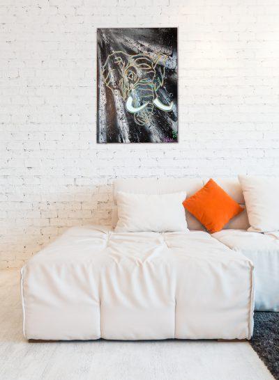 Tableau éléphant graffiti – Décoration intérieur